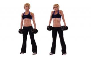 Шраги с гантелями фитнес упражнения