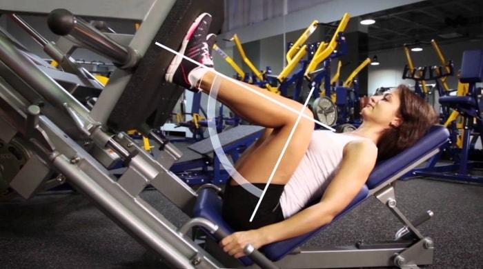 Техника выполнения упражнения жим ногами в тренажере