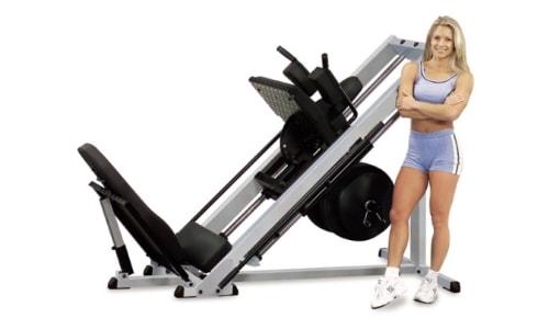 Упражнение жим ногами в тренажере