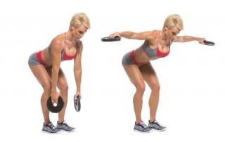 Упражнение разведение рук в стороны в наклоне
