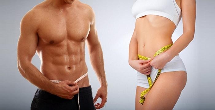 Объем жировых тканей у женщин и у мужчин