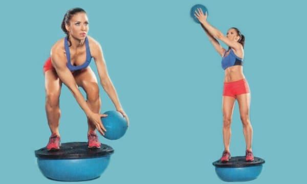 Упражнение выброс мяча
